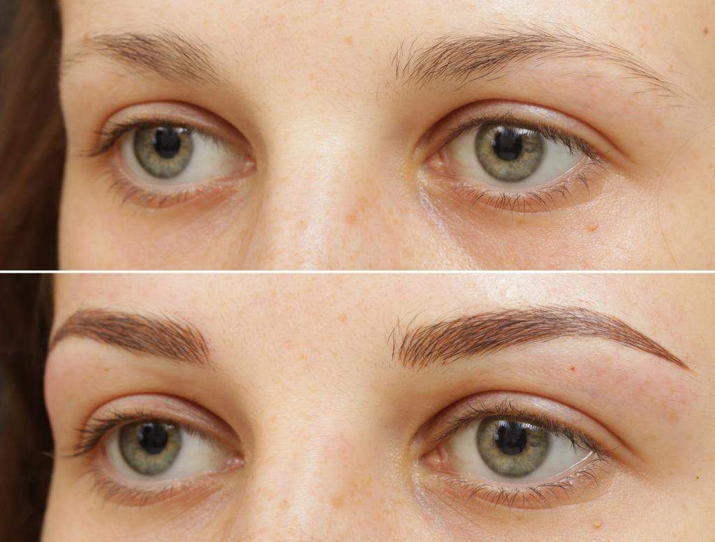 пользу татуаж бровей фото до и после отзывы модель временной