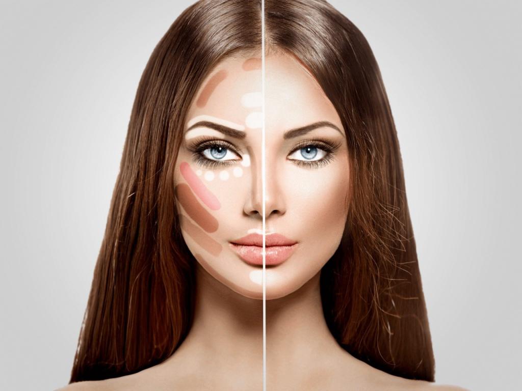 Как выровнять лицо макияжем
